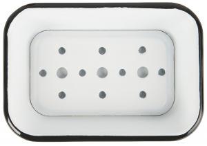 Tvålkopp - Emalj - 16,7 x 11,6 cm - www.frokenfraken.se