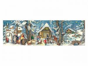 Adventskalender - Julstall - Panorama - 31 x 9 cm - www.frokenfraken.se