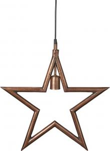 Metallstjärna - Råkoppar 60cm - www.frokenfraken.se