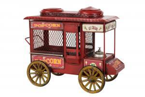 Popcornvagn - Metall/Röd - 30 x 16 x 25 cm - www.frokenfraken.se