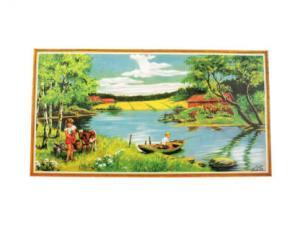Bonad - sommar fiske - 78 x 43 cm - www.frokenfraken.se