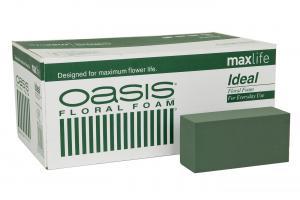 Oasis Ideal - 1 st Grön Stickmassa - För färska blommor - www.frokenfraken.se