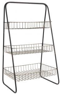Trådhylla - För bord eller bänk - Metall - 45 x 78 x 34,5 cm - www.frokenfraken.se