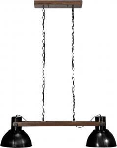 Taklampa - Industri Dubbel - Ashby Pale Black - 110 cm - www.frokenfraken.se
