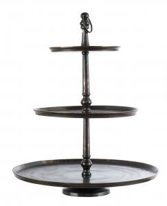Affari Våningsfat - Cake Stand Bronze - 3 våningar - 77 cm
