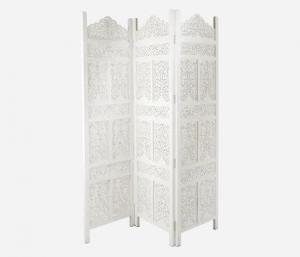 Skärm/rumsavdelare - Carve - Vit - 150 x 182 cm - www.frokenfraken.se