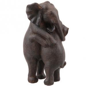 Elefanter som kramas - Brunsvart - 31,5 x 39,5 cm - www.frokenfraken.se