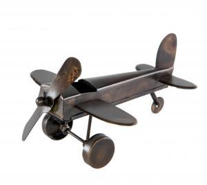 Flygplan - Metall - 21 x 20 x 10 cm - www.frokenfraken.se