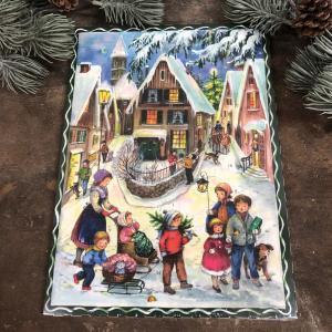 Chokladkalender - Staden - Adventskalender - 35 x 25 cm