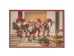 Julbonad - Tomtar kommer med mat - 50 x 35 cm - www.frokenfraken.se