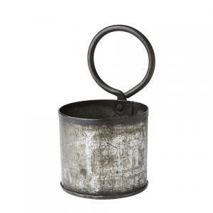Kruka - Metall med öggla - Ø11 x 21 cm - www.frokenfraken.se
