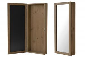 Nyckelskåp - Trä - Brun med spegel - 20 x 8 x 50 cm - www.frokenfraken.se