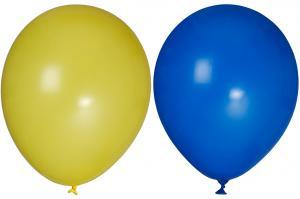 Ballonger - Gula och Blå - 10 st - www.frokenfraken.se