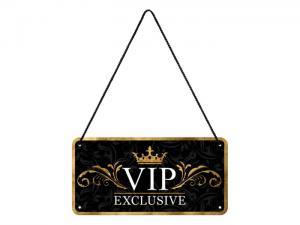 Plåtskylt - VIP Exclusive -10 x 20 cm - www.frokenfraken.se