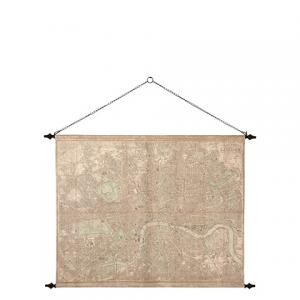 Tavla - Stadskarta - London - Beige - 139 x 100 cm - www.frokenfraken.se