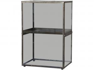 Skåp - Glas - Antik mässing - 52 x 35 cm - www.frokenfraken.se