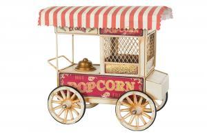 Popcornvagn - Metall/Creme - 25 x 15 x 24 cm - www.frokenfraken.se