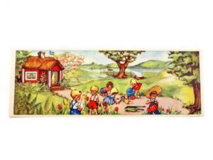 Bonad - barn som leker - 92 x 32 cm - www.frokenfraken.se