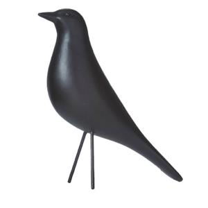 Fågel - Svart - Prydnad - 9 x 24 x 24 cm - www.frokenfraken.se