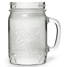 Ball Mason jar - Pint - Glasburk med handtag - 710 ml - www.frokenfraken.se