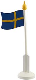 Flagga - Bordsflagga i trä med fot - 37 cm - www.frokenfraken.se