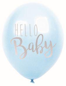Ballonger - Hello Baby - Blå - 6 st - www.frokenfraken.se